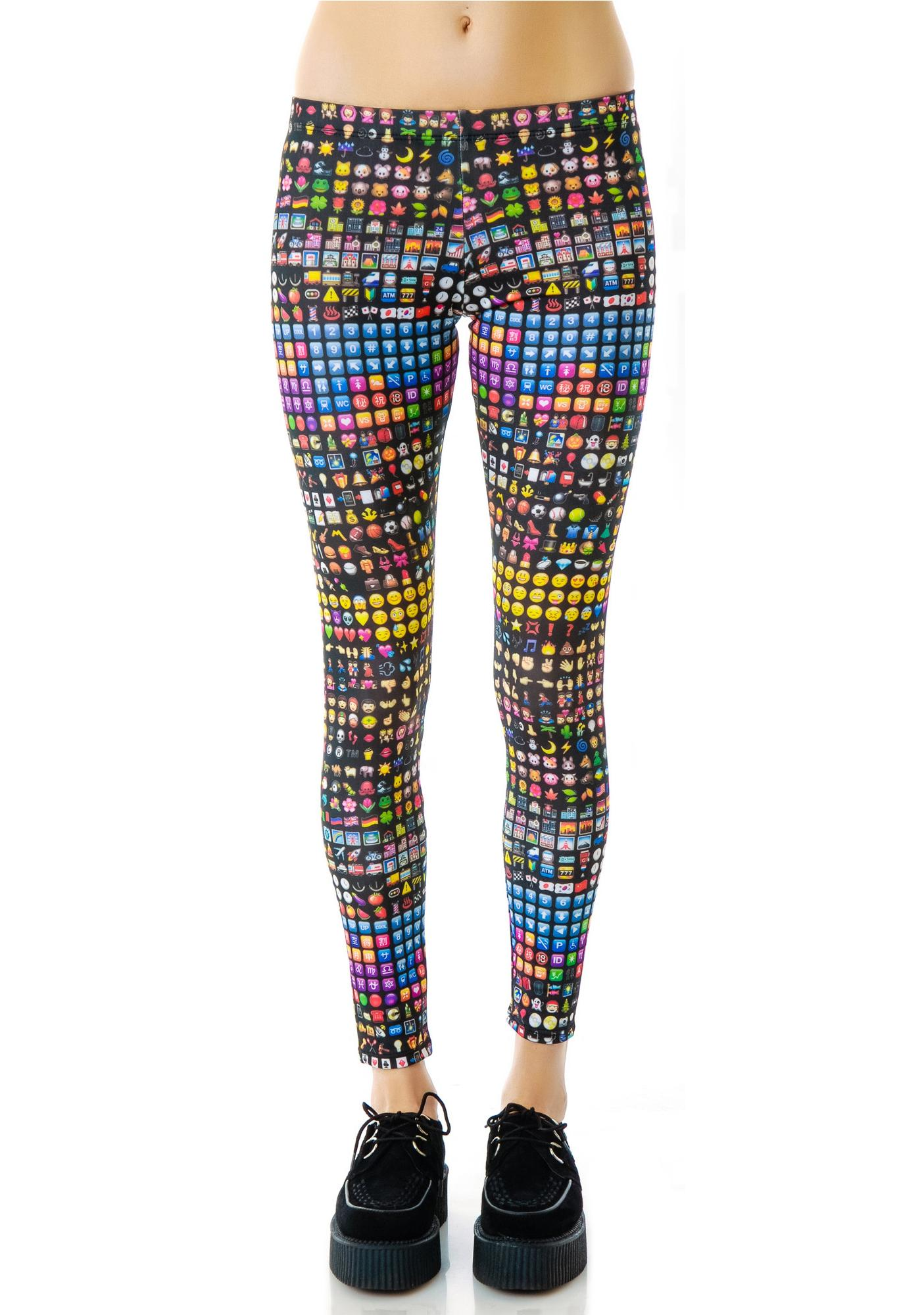 de4d0c221addc2 Zara Terez Emoji Leggings | Dolls Kill