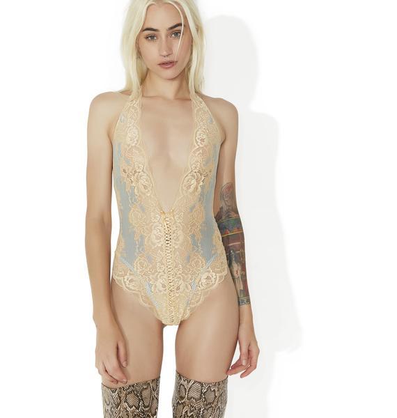 Lusty Crumpet Lace Teddy