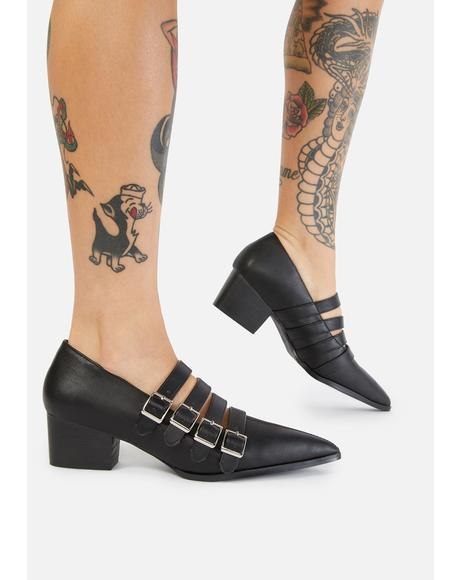 Black Coven Block Heels