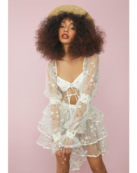 Come Away With Me Daisy Sheer Blouse