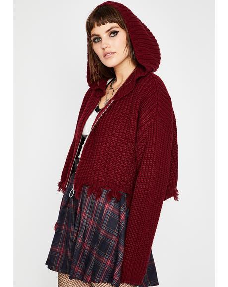 Everything Sucks Crop Sweater