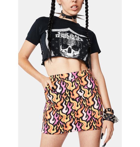 Black Friday Fireproof Mini Skirt