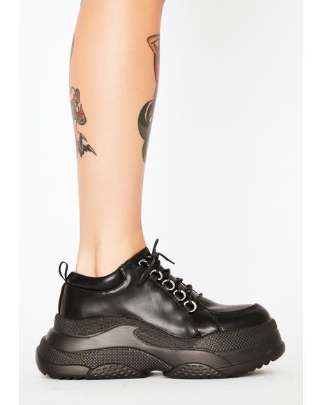 Twisted Turn Platform Sneakers
