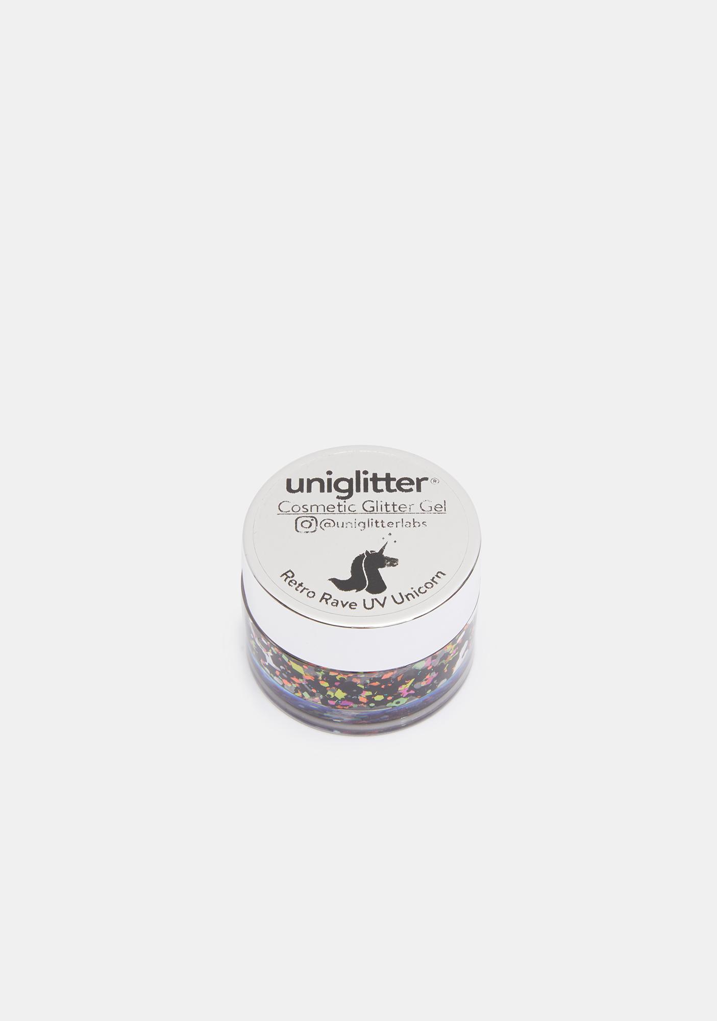 Uniglitter Retro Rave UV Unicorn Glitter Gel
