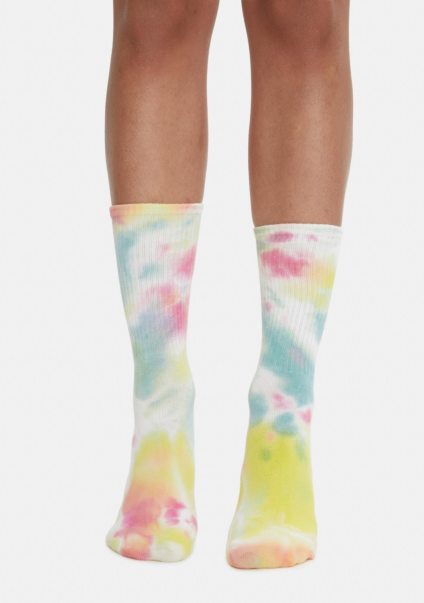 Rainbow Dusk Daze Tie Dye Socks