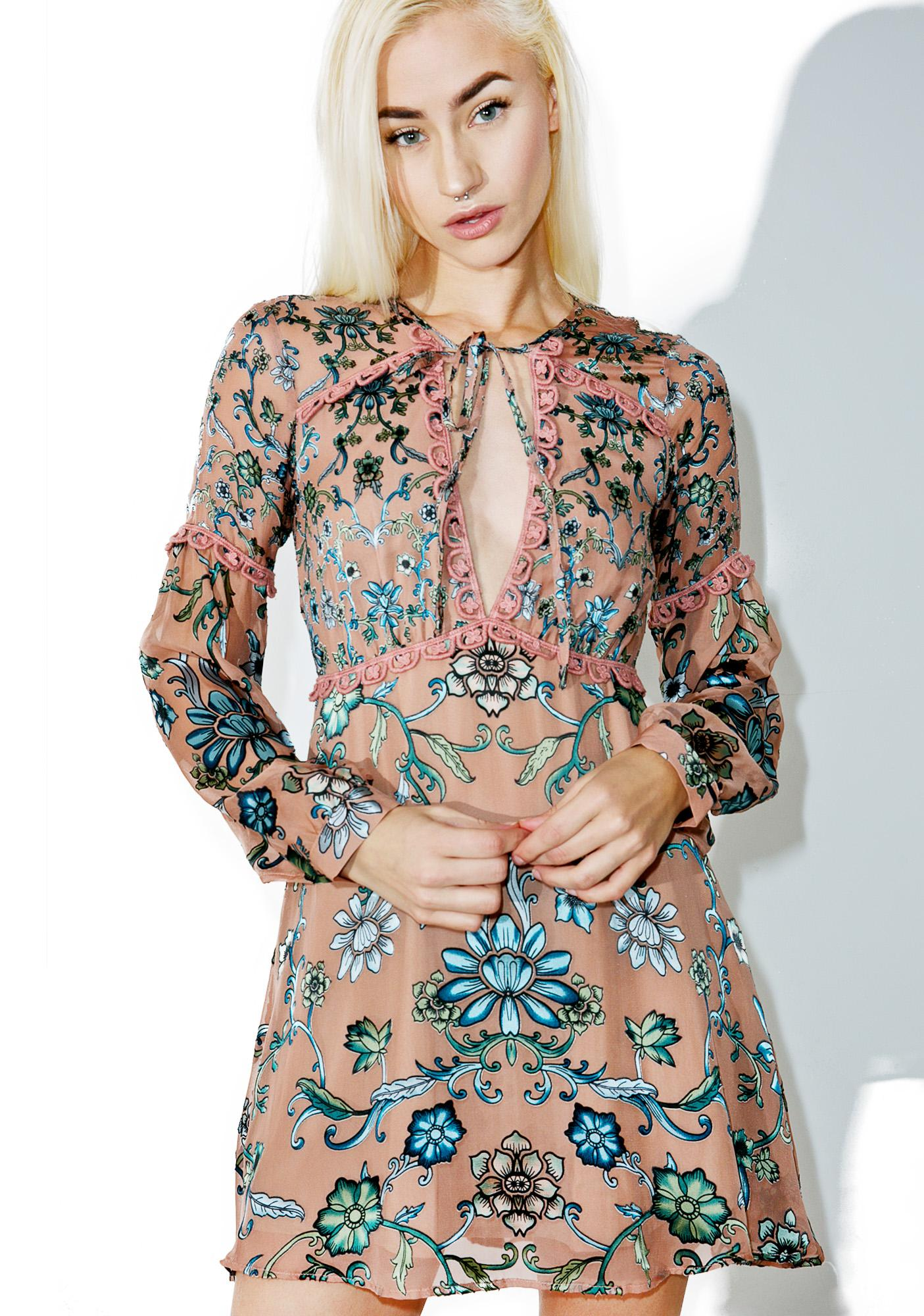 b8b650270759 For Love & Lemons Blush Saffron Mini Dress | Dolls Kill