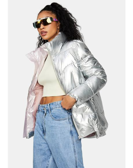 Urban Glory Metallic Puffer Jacket