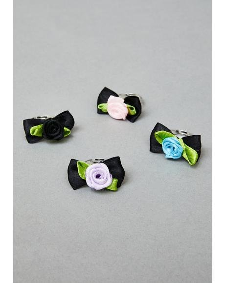 Gloom Bloom Ring Set