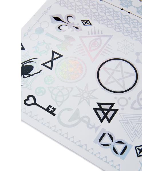 Love And Madness Holographic Classic Flash Tattoos