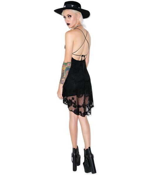 Lip Service Bad Moon Rising Crochet Dress