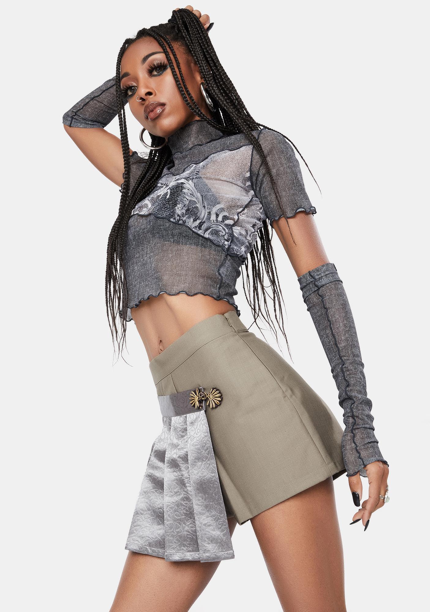 BADEE Wrap Button Skirt Pants