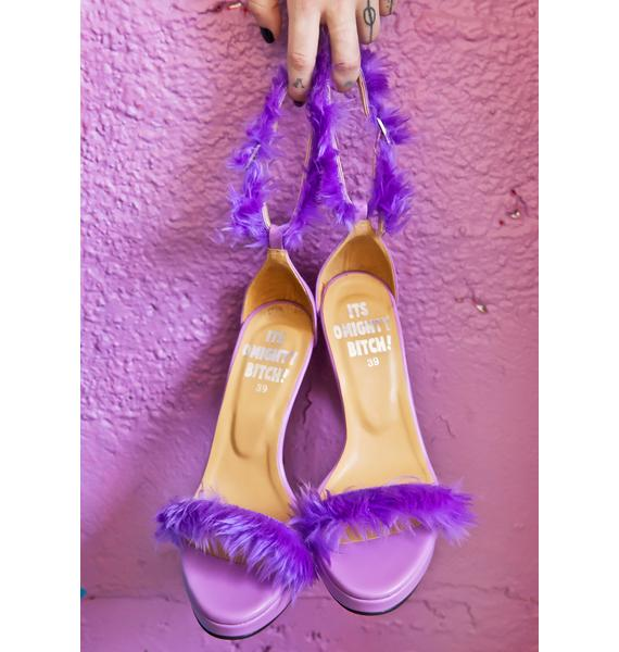 O Mighty Purp Furbae Heels