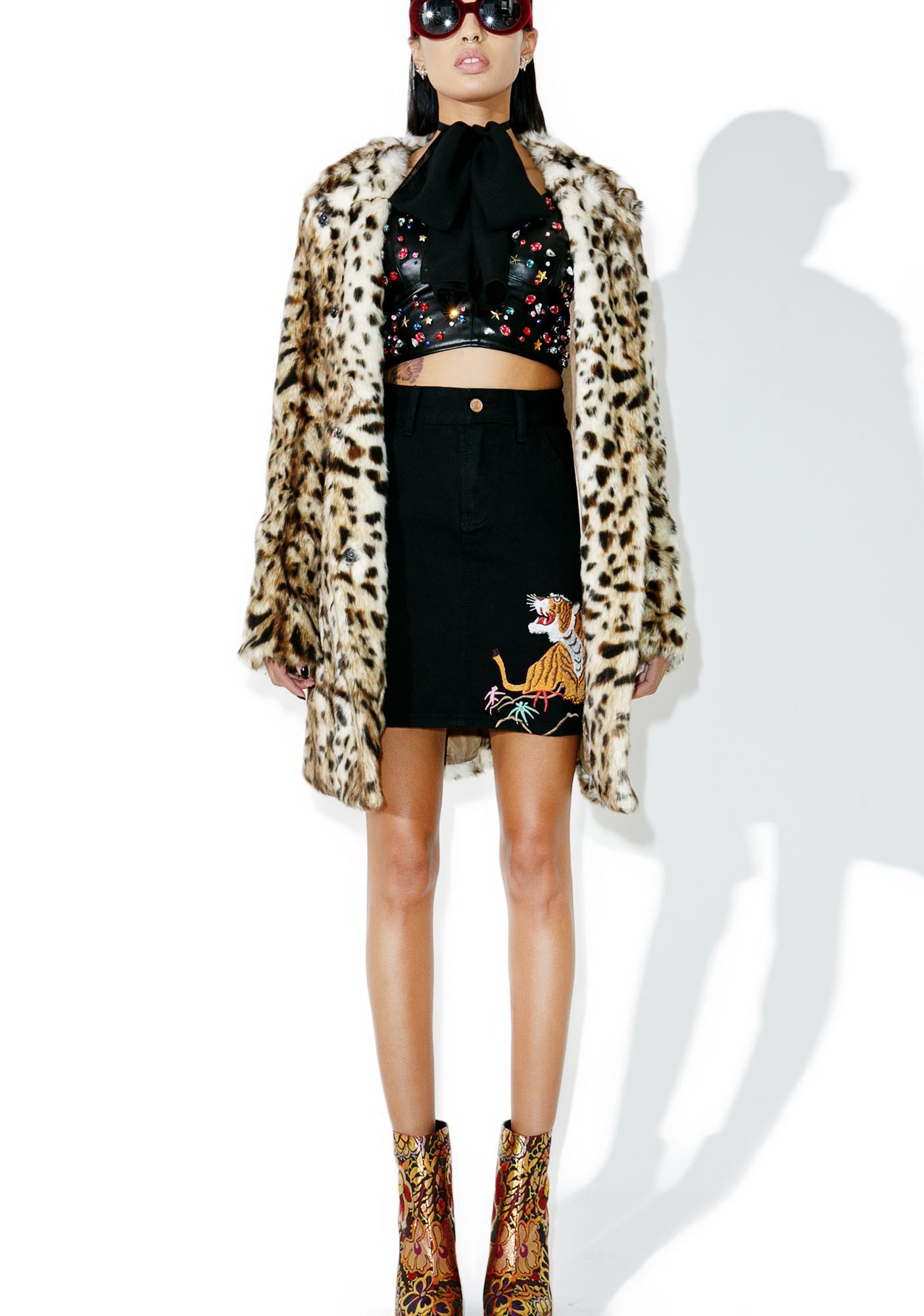Glamorous Le Tigre Denim Skirt