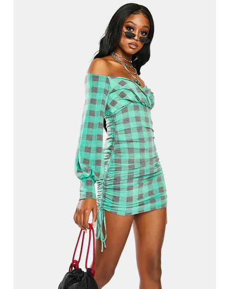 Call Me Anytime Plaid Bodycon Dress