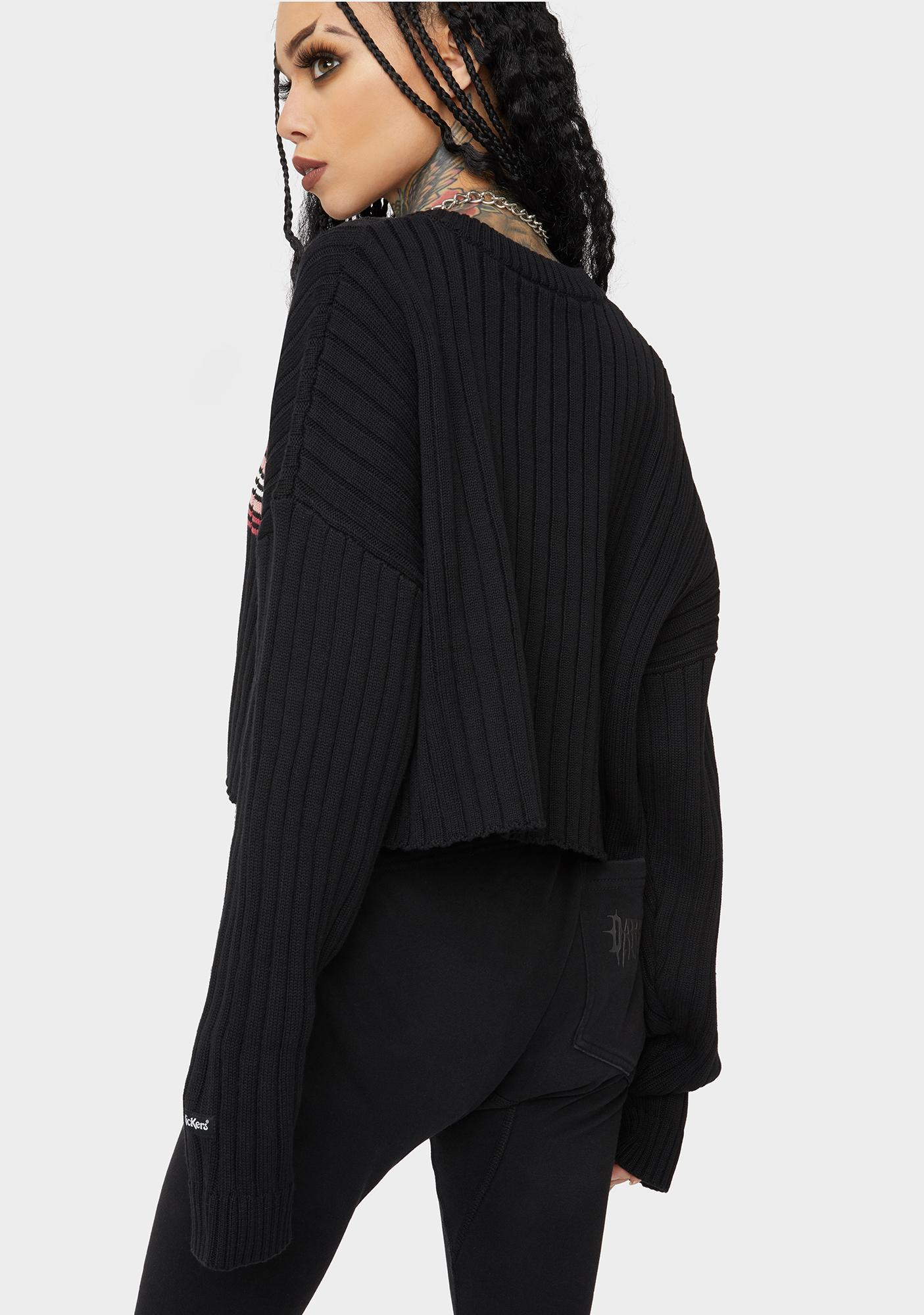 The Ragged Priest X Kickers Cropped Stripe Sweater