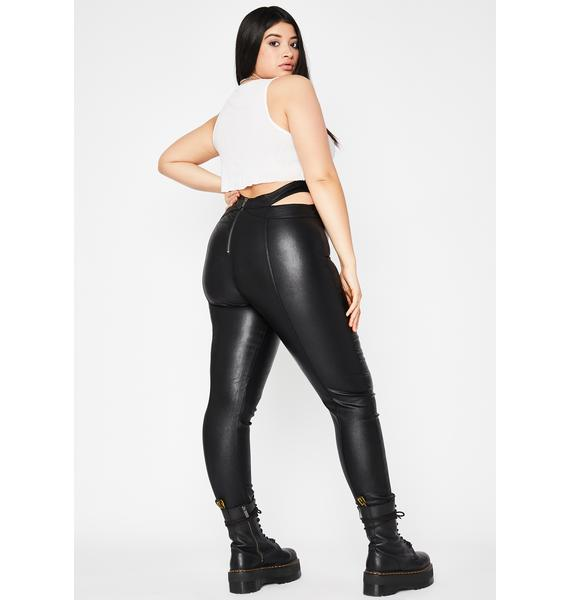 Got No Mercy Cut-Out Leggings