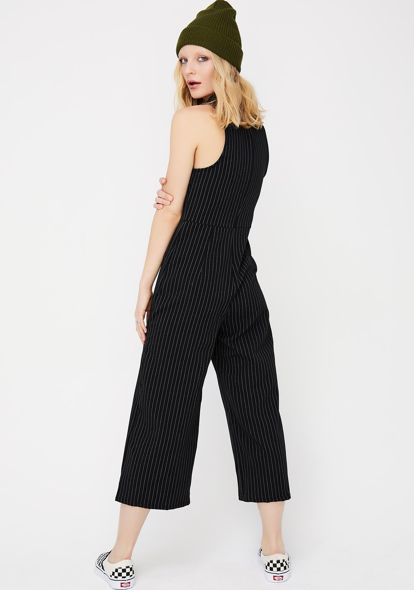 Mob Wifey Pinstripe Jumpsuit