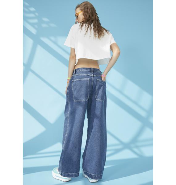 dELiA*s by Dolls Kill Hang Loose Wide Leg Jeans