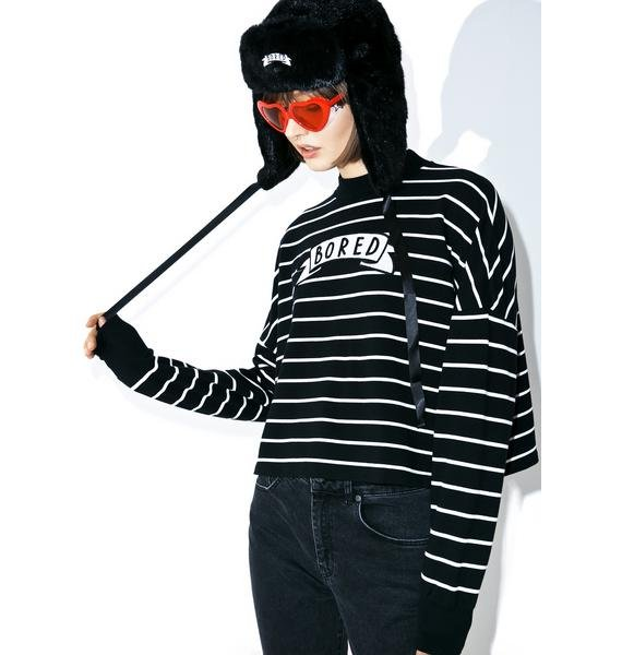 Lazy Oaf Bored Stripey Sweatshirt