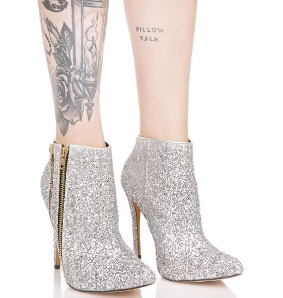 Dazzle Glitter Ankle Boots