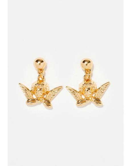 Cherub Cutie Drop Earrings