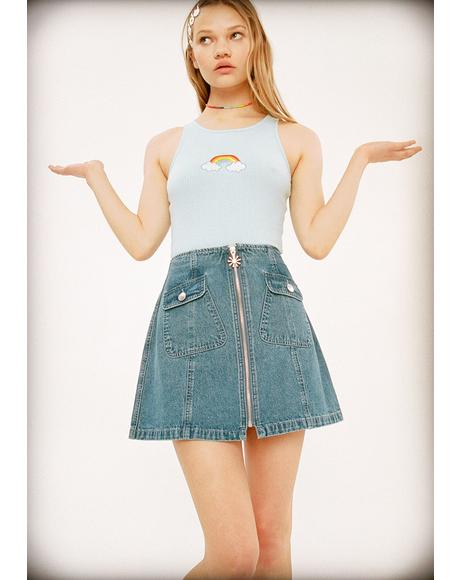 You're Invited Denim Skirt