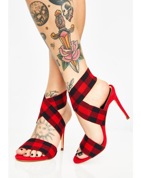 Fierce Frontier Gingham Heels