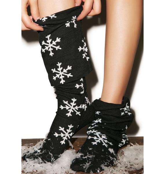 Wildfox Couture Snowflake Fox Sox