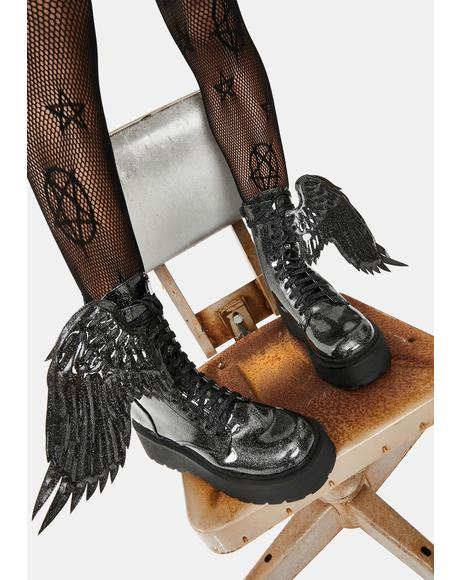 Angel Of Darkness Winged Boots