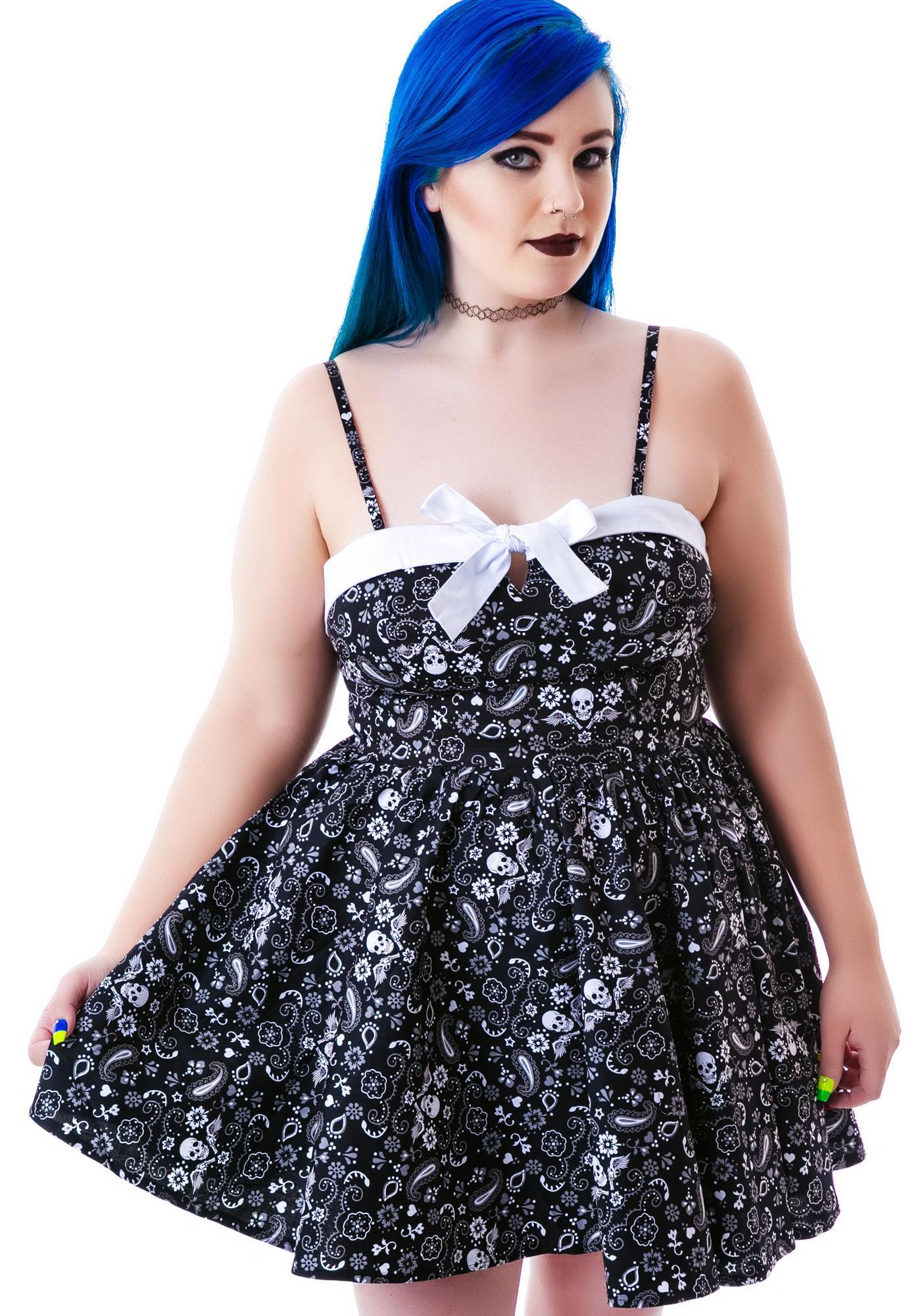 Hell Bunny Saloon Hearts Bandana Dress