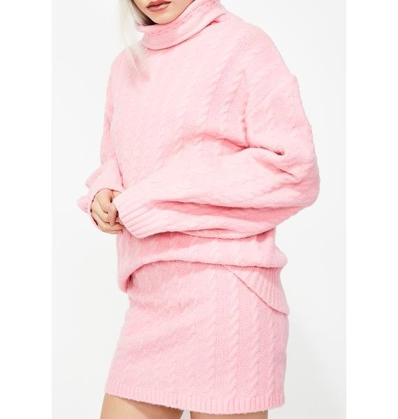 Bubblegum Pop Sweater Skirt