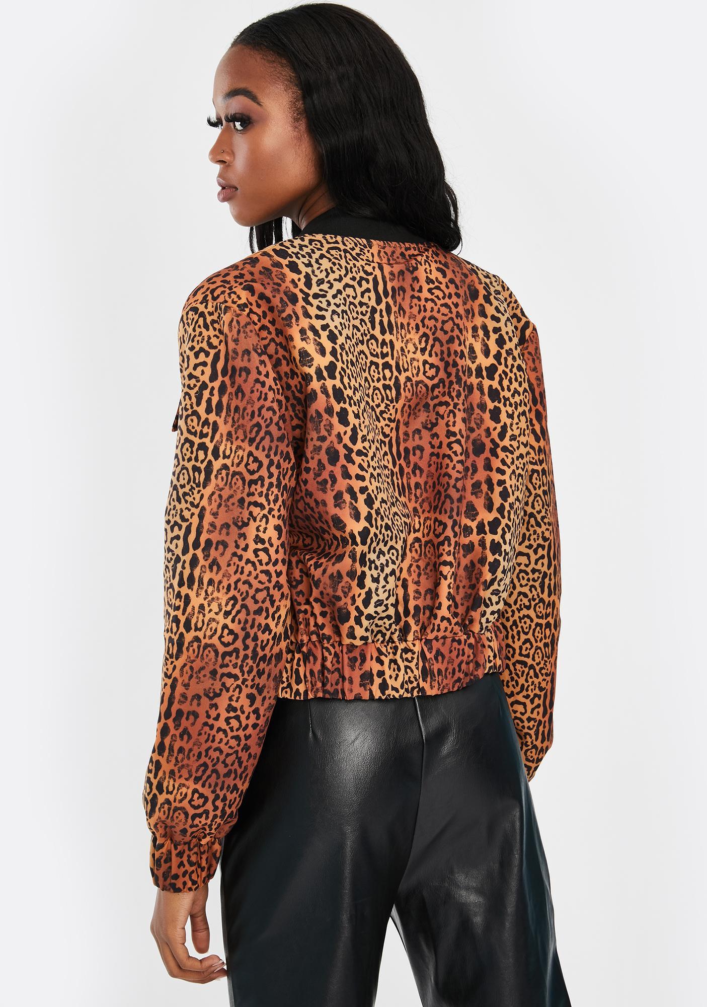 Nana Judy Skyla Leopard Bomber Jacket