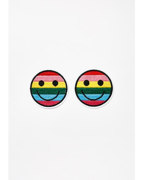 Rainbow Smiley Nifty Nipztix Pasties