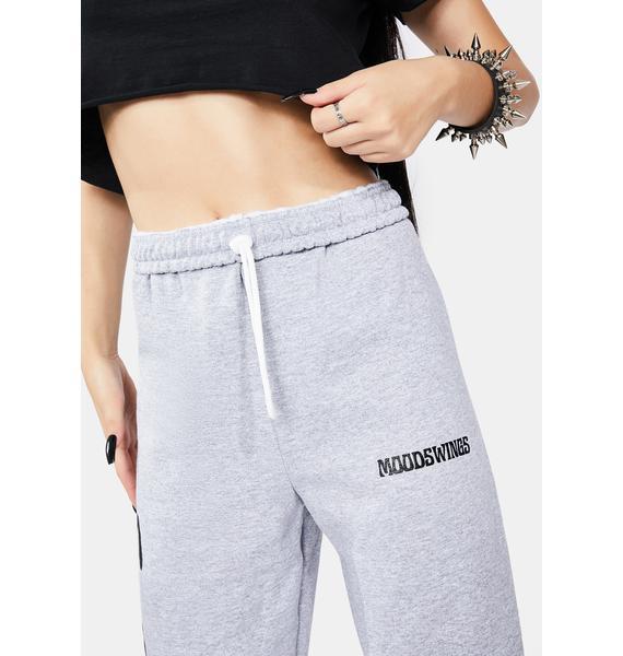 MOODSWINGS Grey Foes Sweatpants