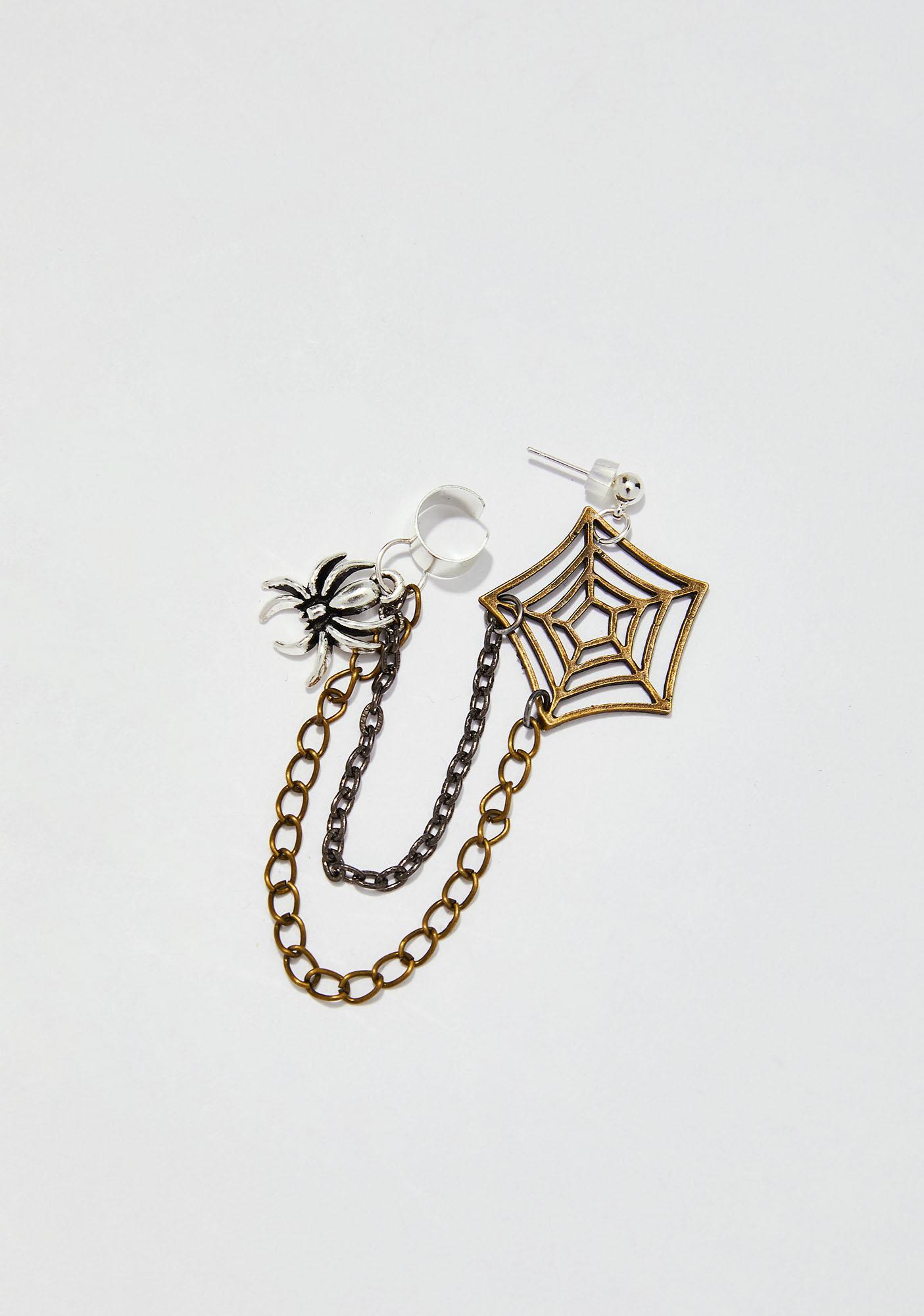 Itsy Bitsy Spider Ear Cuff