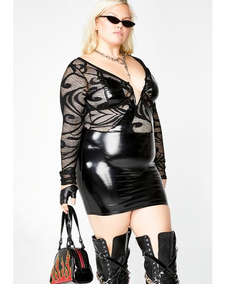 Devious Seduction Vinyl Dress