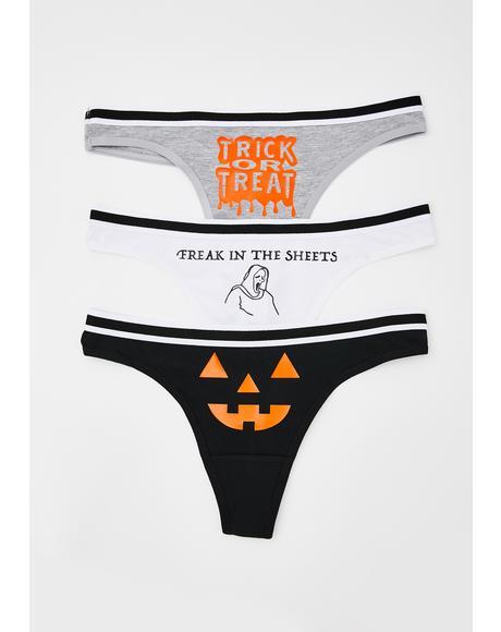 Halloweenie Panties Set