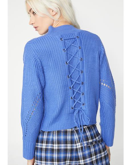 Nap Time Lace-Up Sweater