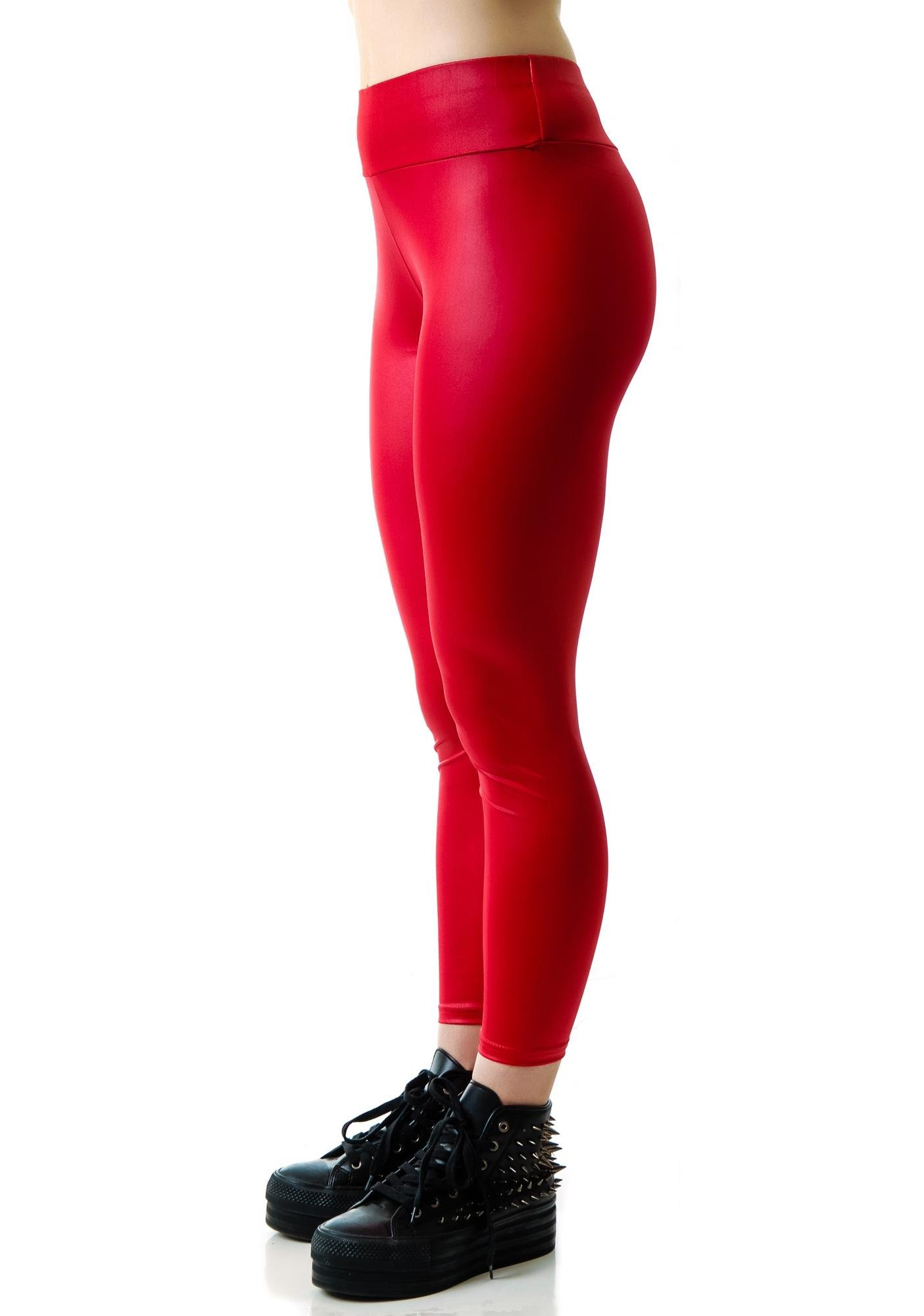 Hot Like Fire Engine Red Leggings