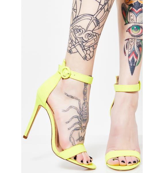 In My Neon Element Heels