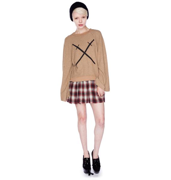 Wildfox Couture Swords Star Crossed Sweater