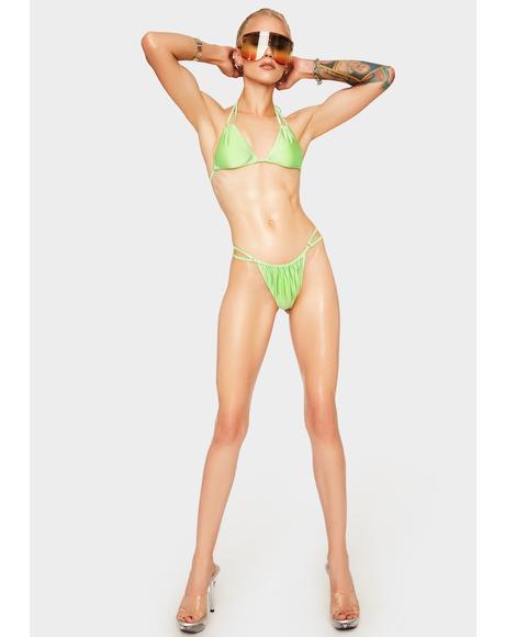 Lime Ultra Double Strap Bikini Bottoms