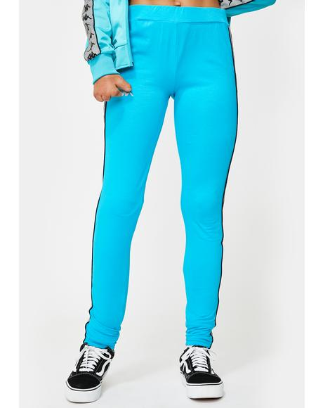 Blue 222 Banda Dessy Reflective Leggings