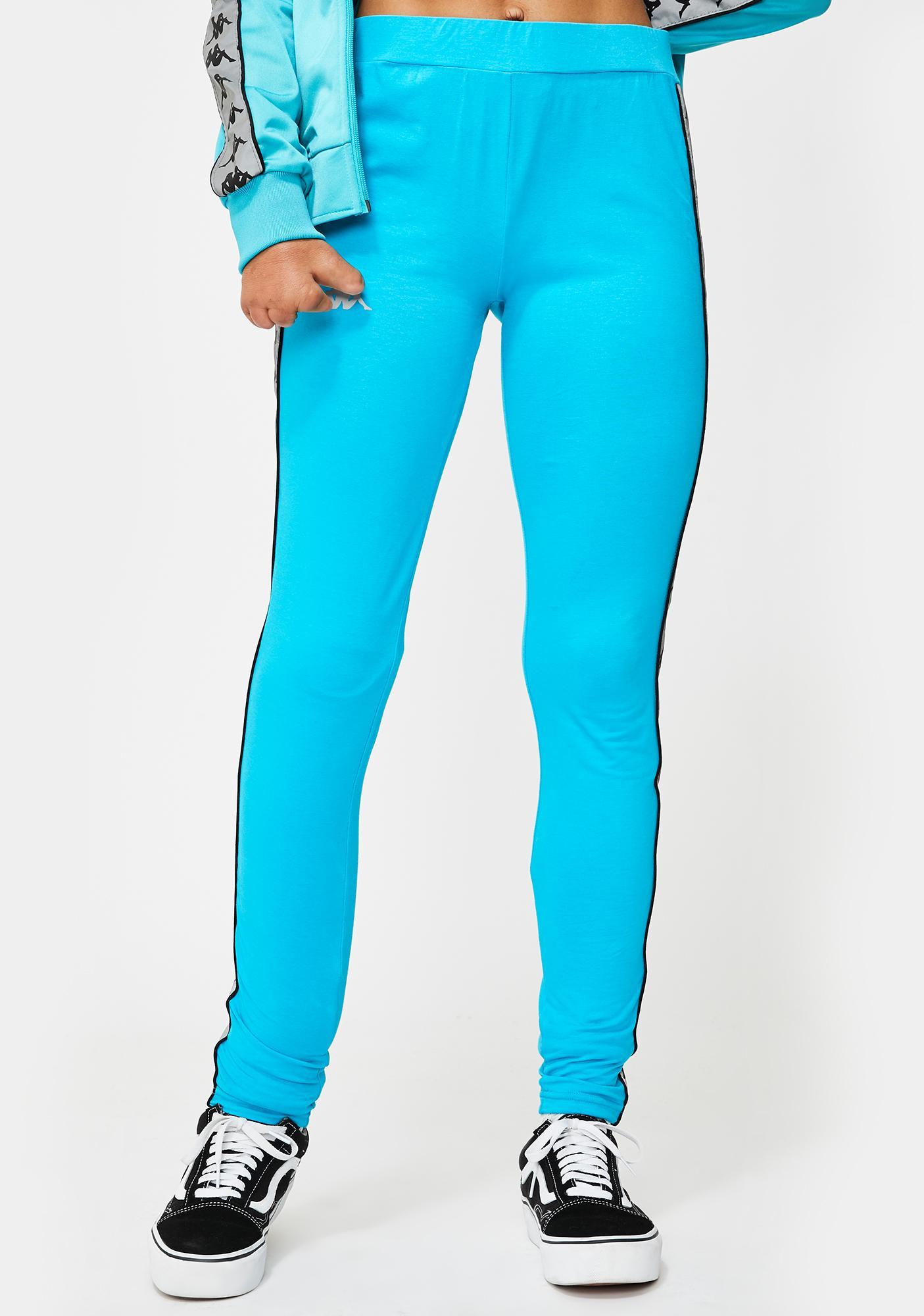 Kappa Blue 222 Banda Dessy Reflective Leggings