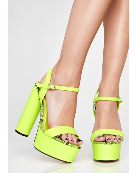 Neon Poisoned Lover Platform Heels