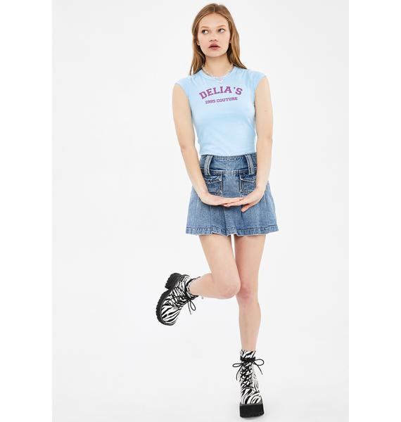 dELiA*s by Dolls Kill Itz a Girl's World Graphic Tee