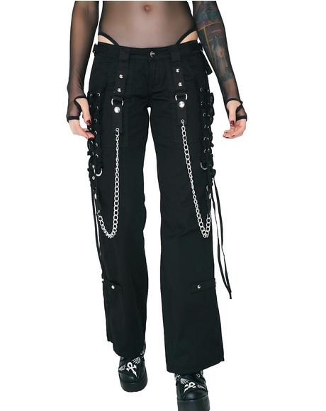 Lace-Up Chain Pants