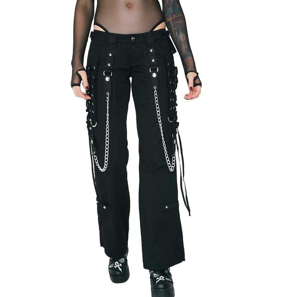 Tripp NYC Lace-Up Chain Pants