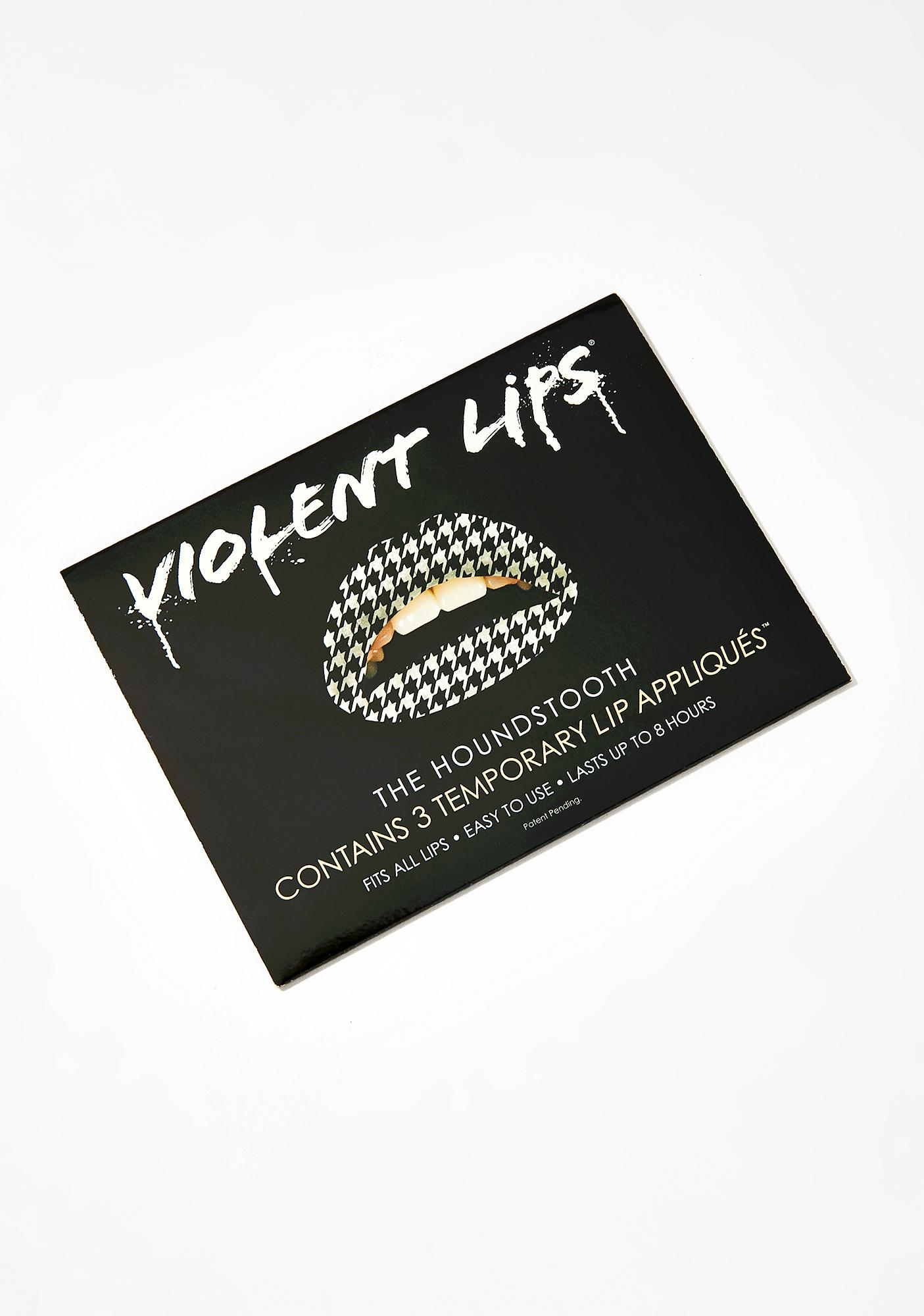 Violent Lips The Houndstooth Lip Applique