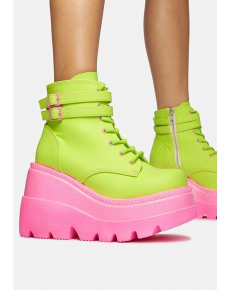 Watermelon Technopagan Boots